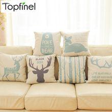 Top Finel 2016 cervos decorativa almofadas capa de algodão de linho capa de almofada criativo para sofá carro cobre 45 X 45 cm(China (Mainland))