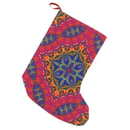 Beautiful colorful Kaleidoscope Small Christmas Stocking