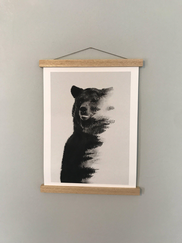 Poster Hanger, Poster Frame, Print Hanger, Wooden Poster Hanger, Art ...