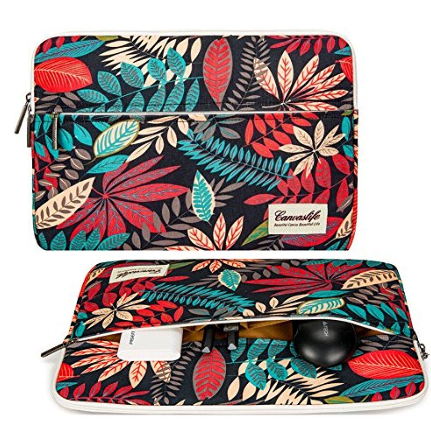 Canvaslife Colorful Leaves Laptop Sleeve 15 Inch Macbook Pro 15 Case And 15 6 Laptop Bag Awesome Produc Cute Laptop Cases Laptop Sleeves Macbook Air 13 Case