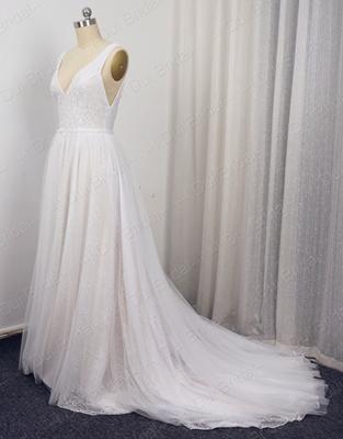 Boho Wedding Dresses Vestido De Noiva Real Photo V Neck A Line Y Bohemia Beach Els0001