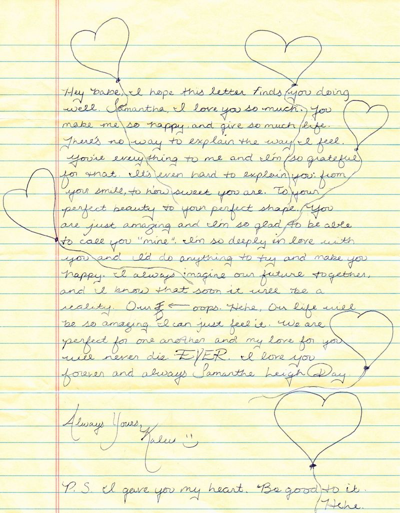 Letter love pre Erotic written