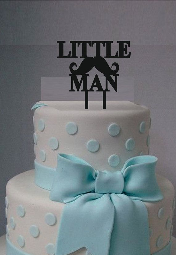 Little Man Cake Topper Acrylic Laser Cut Cake Topper Baby Shower