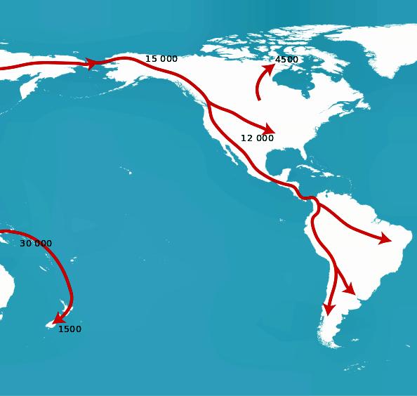 Migración Hacia América Estrecho De Bering Hidrografia De America Mapa De America