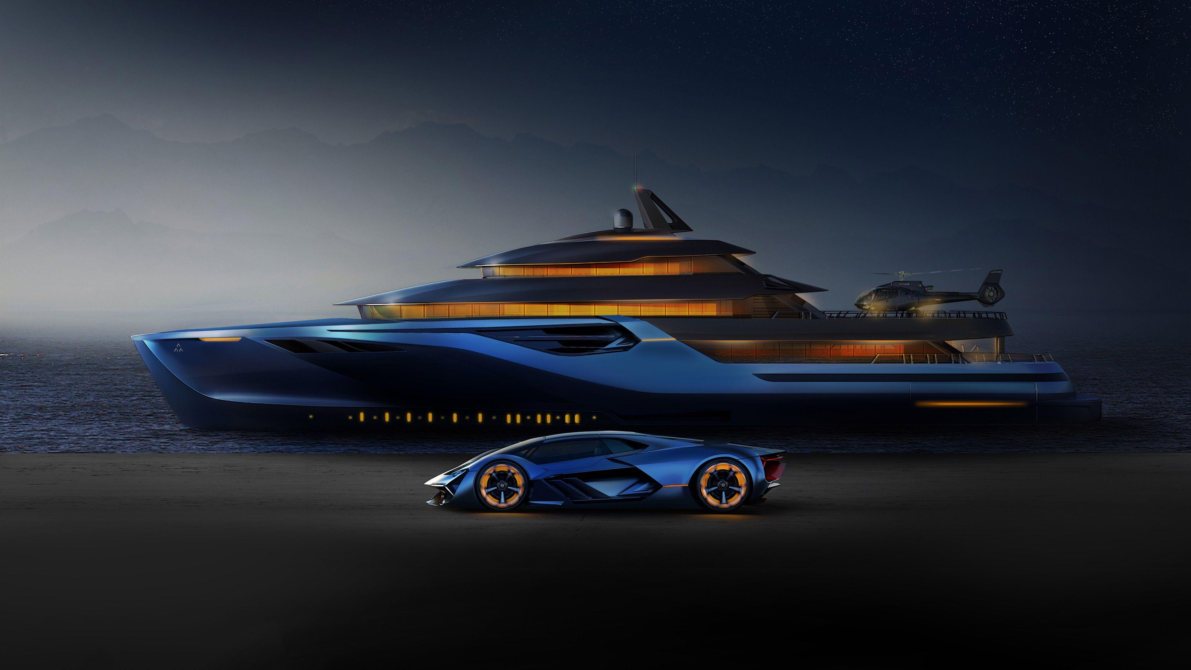 Downaload Lamborghini Terzo Millennio And Explorer Concept Artwork