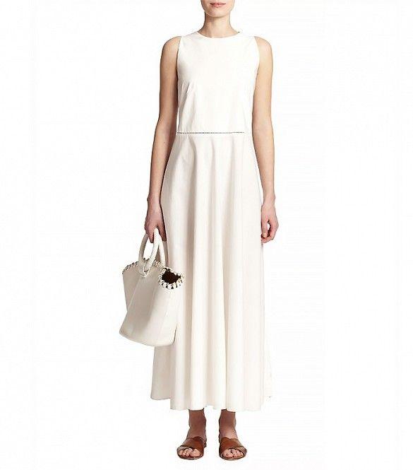 The Row Hera Cotton Midi Dress // White midi dress