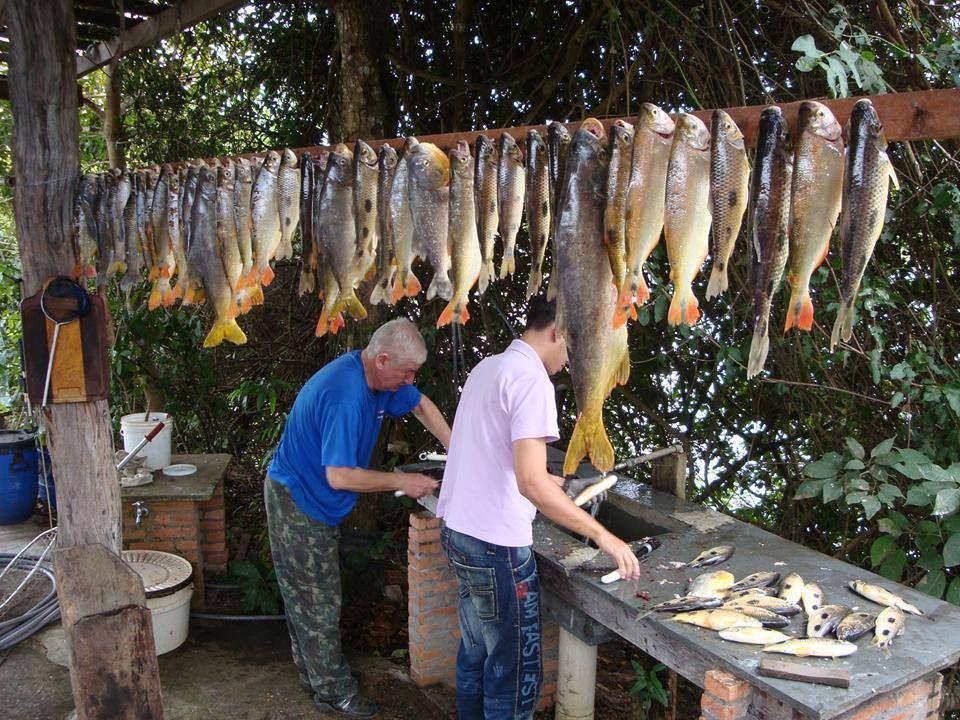 A pescaria foi boa.