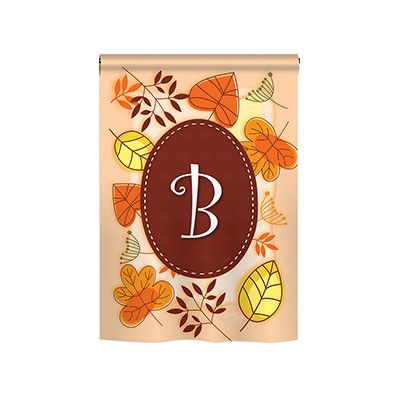 "TwoGroupFlagCo Autumn A Monogram 2-Sided Vertical Flag Size: 40"" H x 28"" W, Letter: W"