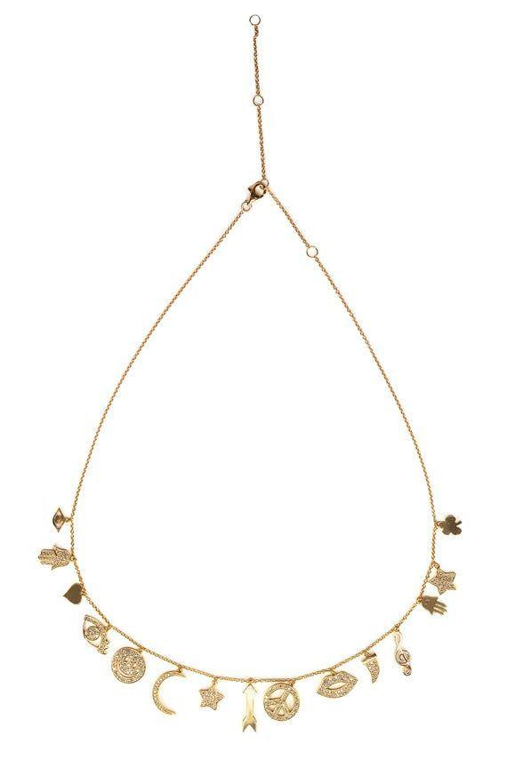 Photo of Rose Gold Diamant Glücksbringer Halskette-Glücksbringer-Diamant-Halskette-Smil…