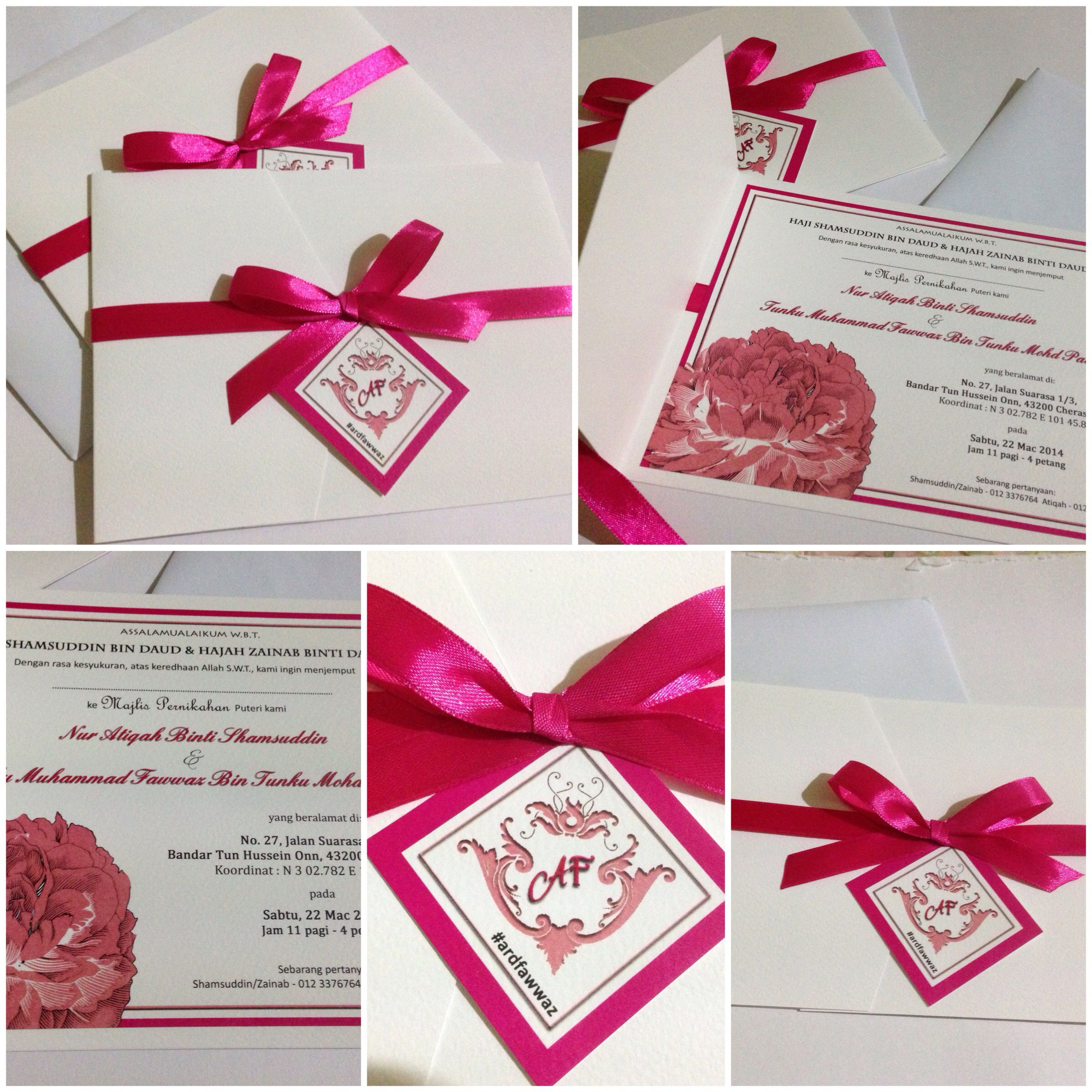 My fuchsia solemnization card. Wedding card, wedding invites ...