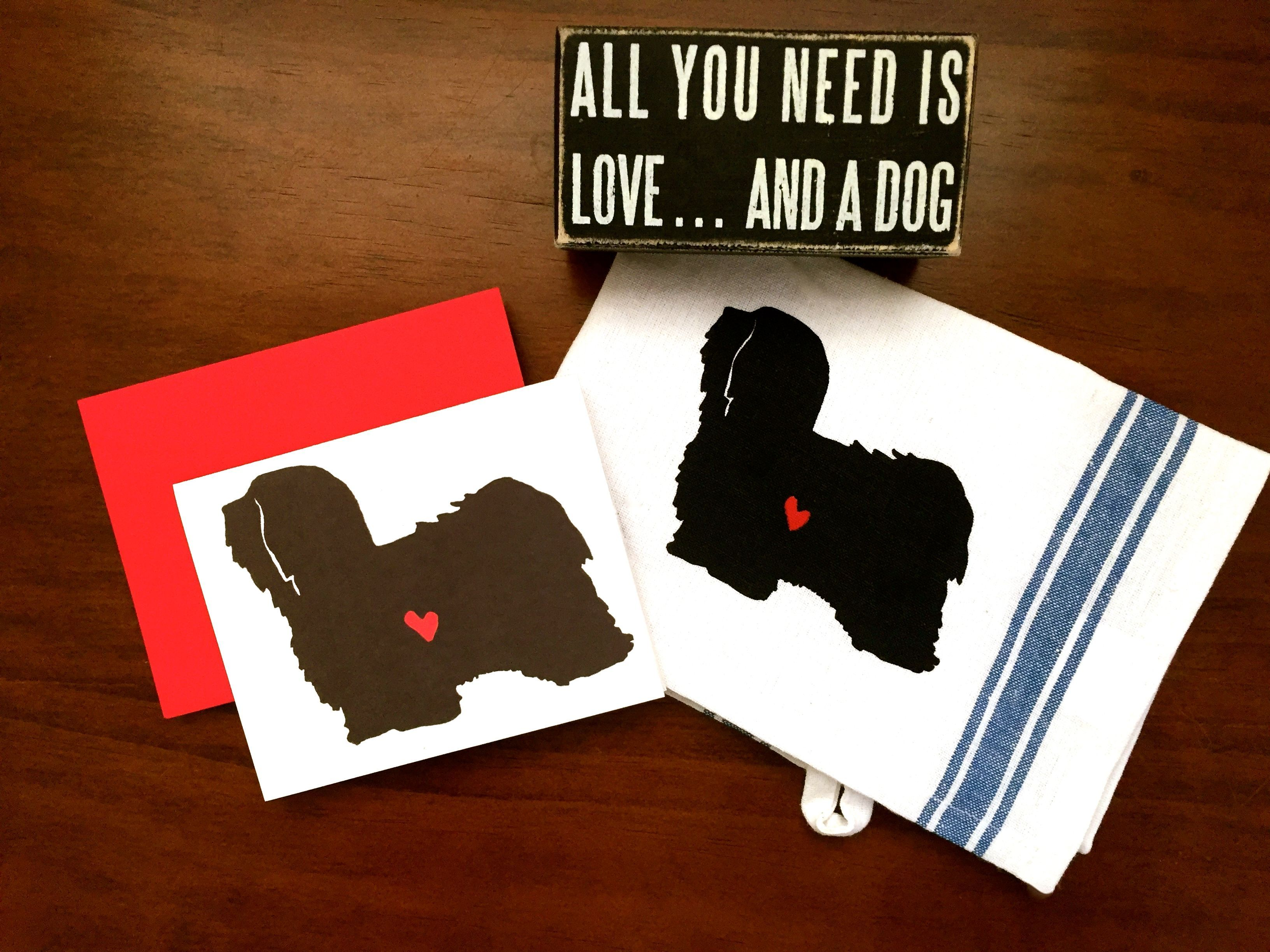 Kitchen Towel for Shih Tzu lovers Funny gift Kitchen hand towel dog owners