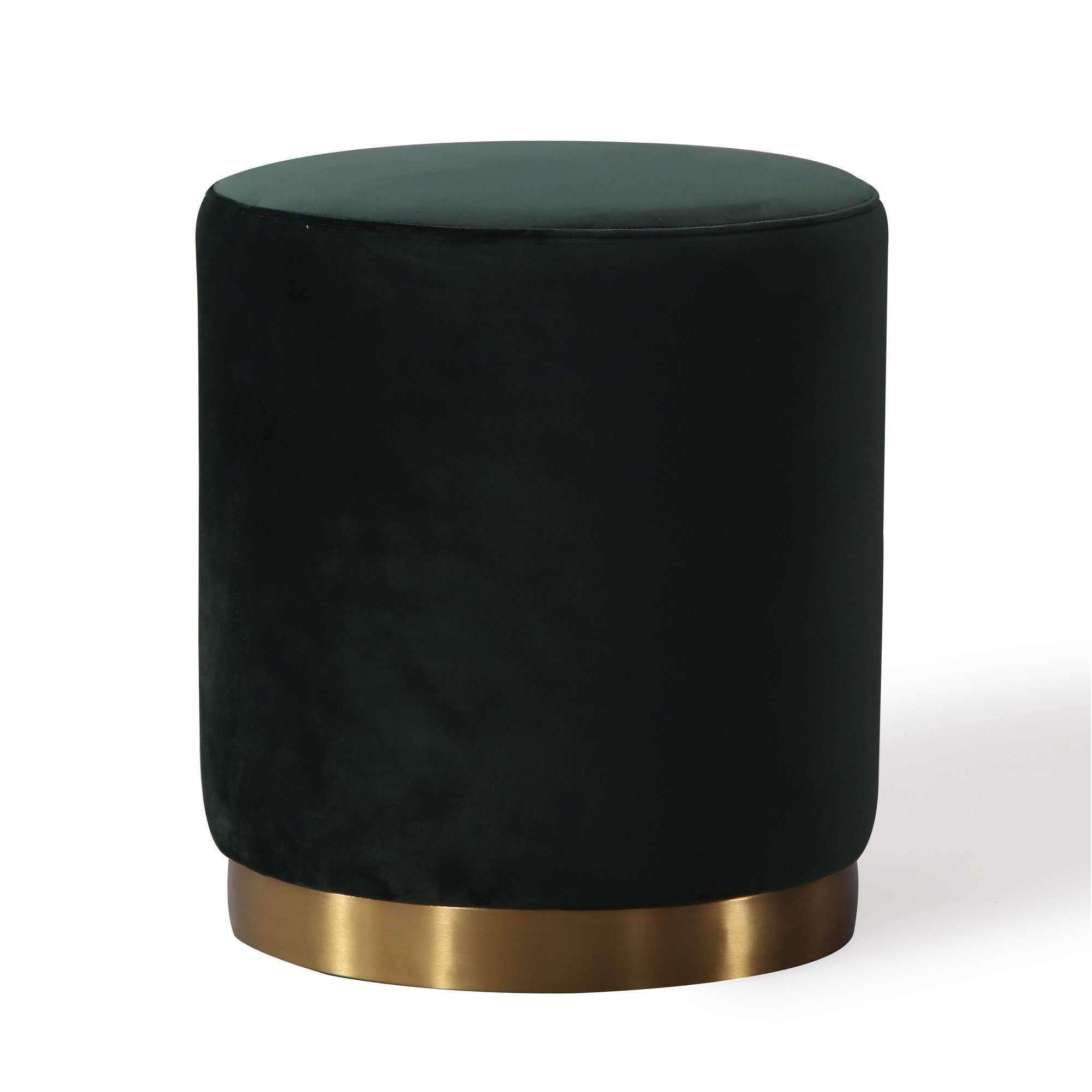 Magnificent Opal Green Velvet Ottoman By Tov Furniture Products Cjindustries Chair Design For Home Cjindustriesco