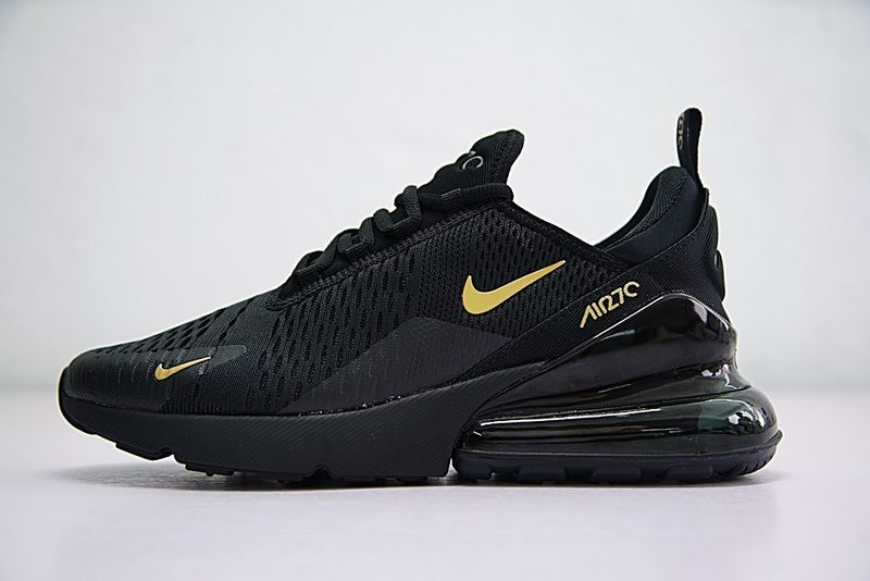 low priced 747ed 2a5f2 Latest Free Running Nike Air Max 270 Black Gold AH8050 007