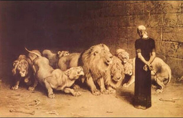 God was with Daniel in the lions den. A time he had to trust God and know he will never leave him or forsake him. God is with you even when the enemy is trying to take you out. I love this picture everything about it. I look at the lions as people as well trying to destroy you by how they treat you or the words they are speaking against you but you still have to stand with your head high and know God has you.( Do not worry. Learn to pray about everything. Give thanks to God as you ask him…