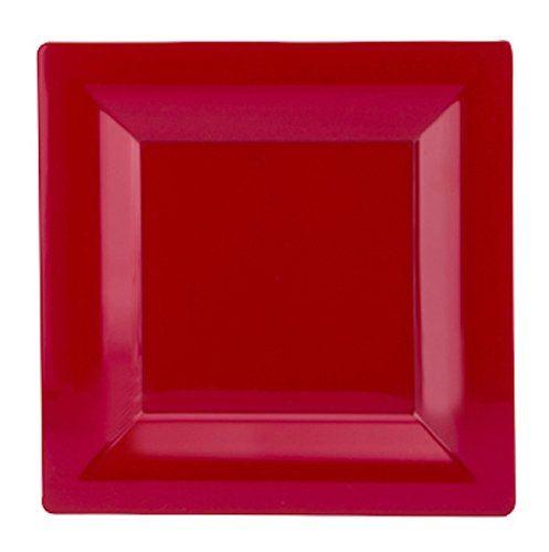 WNA Milan Grand 10 Count Square Plastic Plates 6.5  Red.  sc 1 st  Pinterest & WNA Milan Grand 10 Count Square Plastic Plates 6.5