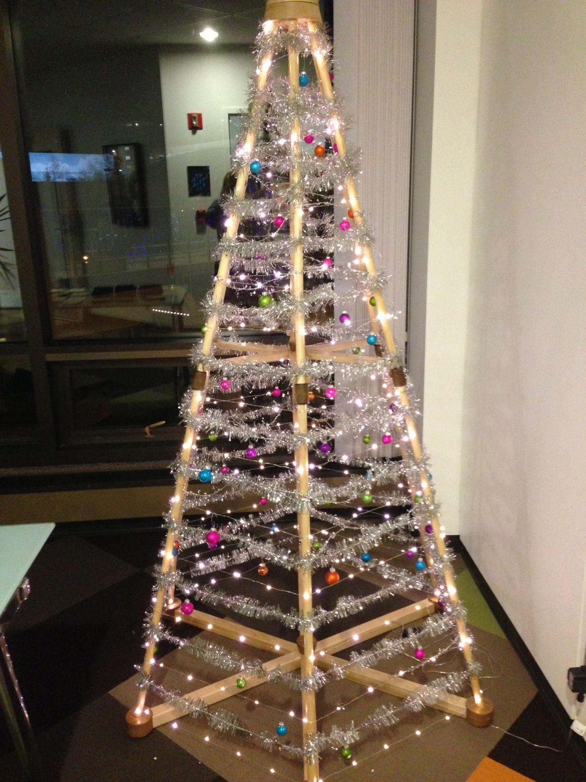 funky christmas tree idea seen at the boardroom office christmas rh pinterest com