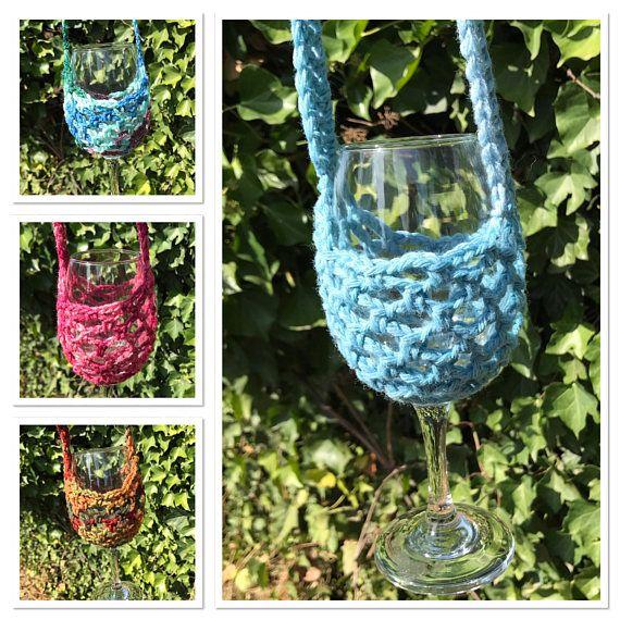 Wine Glass Necklace Wine Glass Holder Wine Glass Lanyard Glass