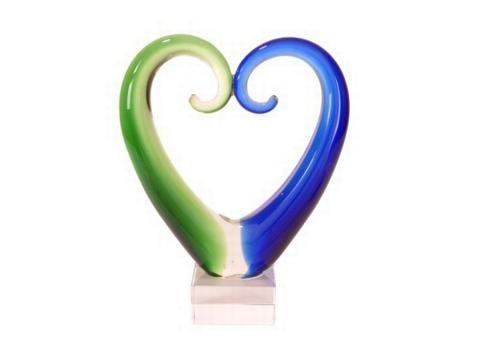 Large Maori Koru Heart Glass Ornament 20cm Httpshopenzed