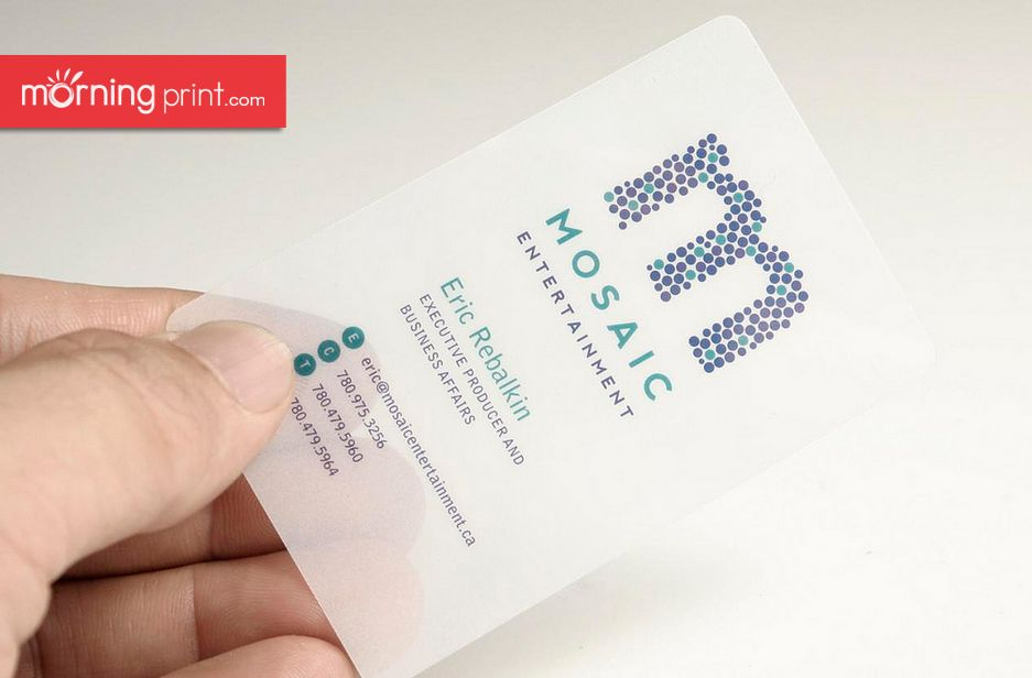 Morningprint Opaque White Plastic Business Cards Plastic Business Cards Printing Business Cards Embossed Business Cards