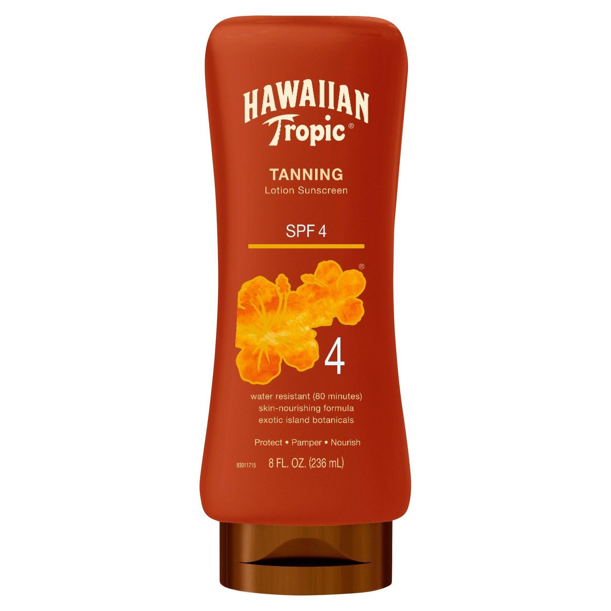 Hawaiian Tropic Dark Tanning Lotion Sunscreen SPF 4