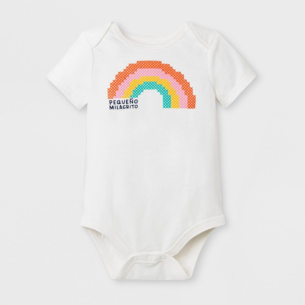 9abc2be688 This simple and sweet Short-Sleeve Pequeno Milagrito Rainbow ...