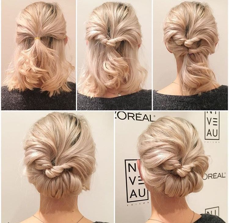 Pin By Tara Depizzol On Beauty Short Hair Prom Updos Bridesmaid Hair Updo Short Hair Styles
