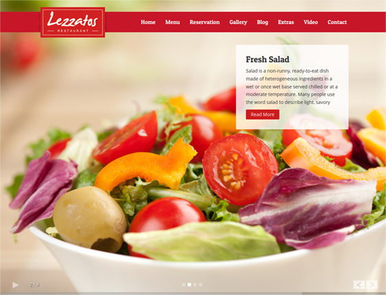 This Wordpress Restaurant Theme Has A Responsive Design  Menu