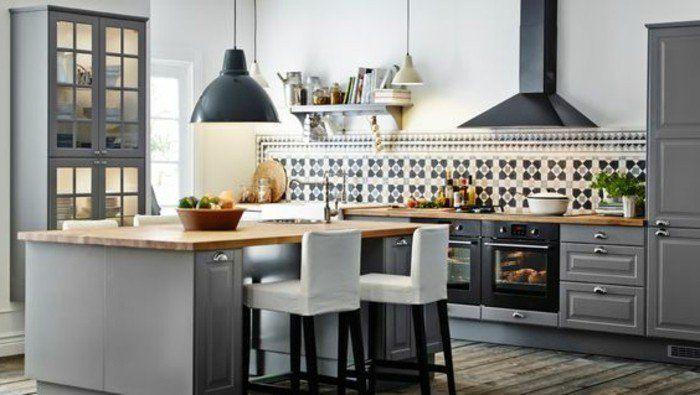 meuble bar cuisine americaine en bois naturel idee cuisine americaine - Meuble Bar Cuisine Amricaine