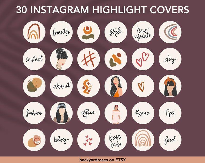 Instagram story highlight icons boho instagram highlight