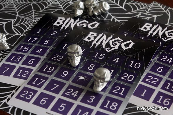 Spider Web Printable Halloween Bingo Card -many designs Halloween - spider web decoration for halloween