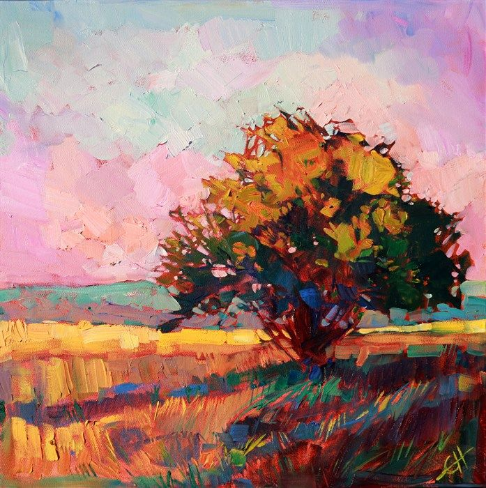 Modern Impressionism Oil Painting Landscape By Erin Hanson Alone Art Oil Painting Landscape Art Painting Oil