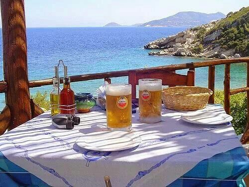 Beer time in Samos island