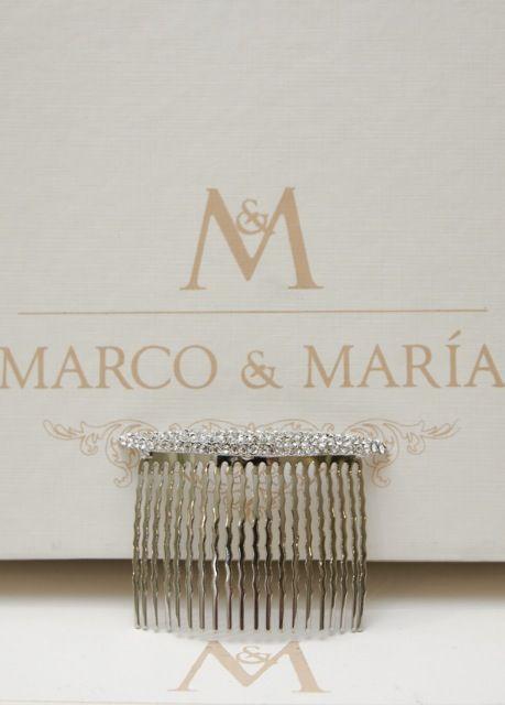 Peinillo de novia montado en plata con cristal de Marco & María ...