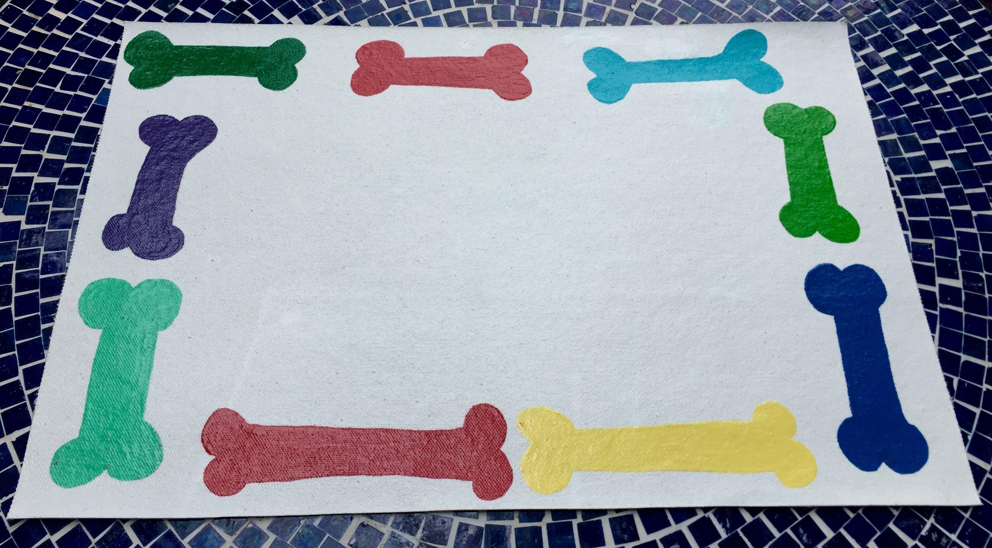 Doggie Place Mat - acrylic on canvas $25