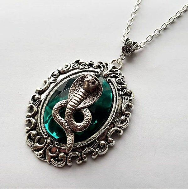 Slytherin Inspired Emerald Jewel Necklace