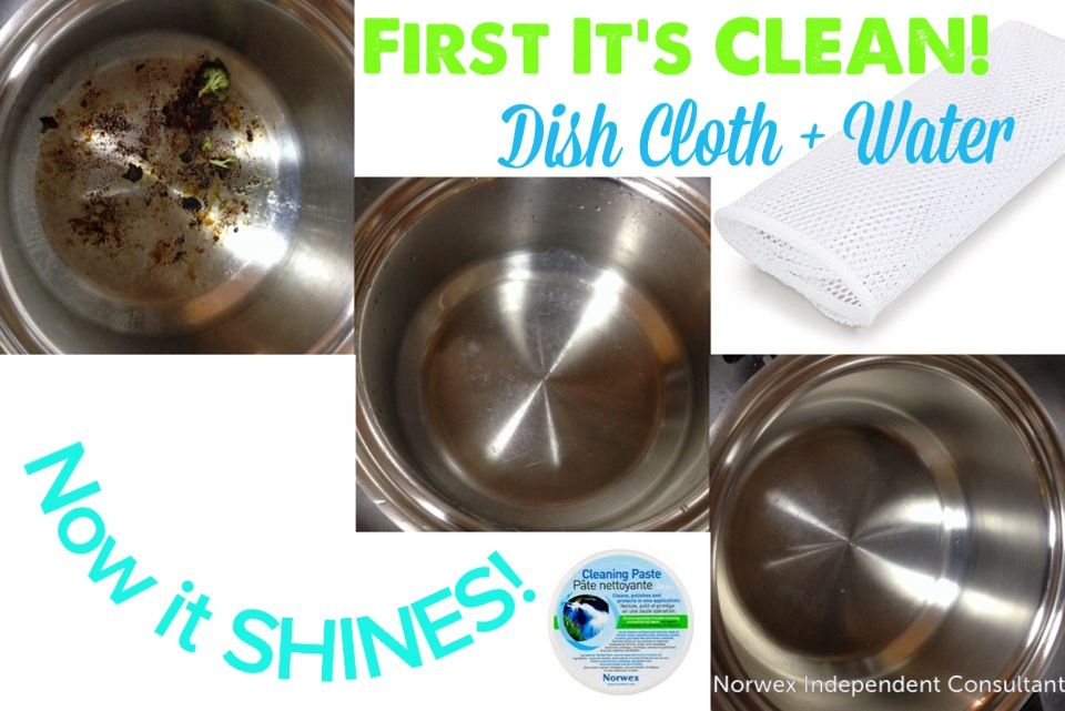 how to clean stainless steel with norwex
