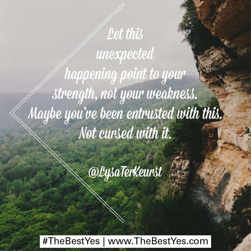 let this unexpected happening point to your strength not you let this unexpected happening point to your strength not you weakness be you