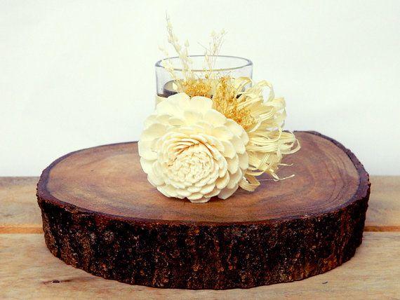 White Chocolate  set of 3  Ivory Cream White by WeddingSundae #candleholder #wedding #decoration #candle