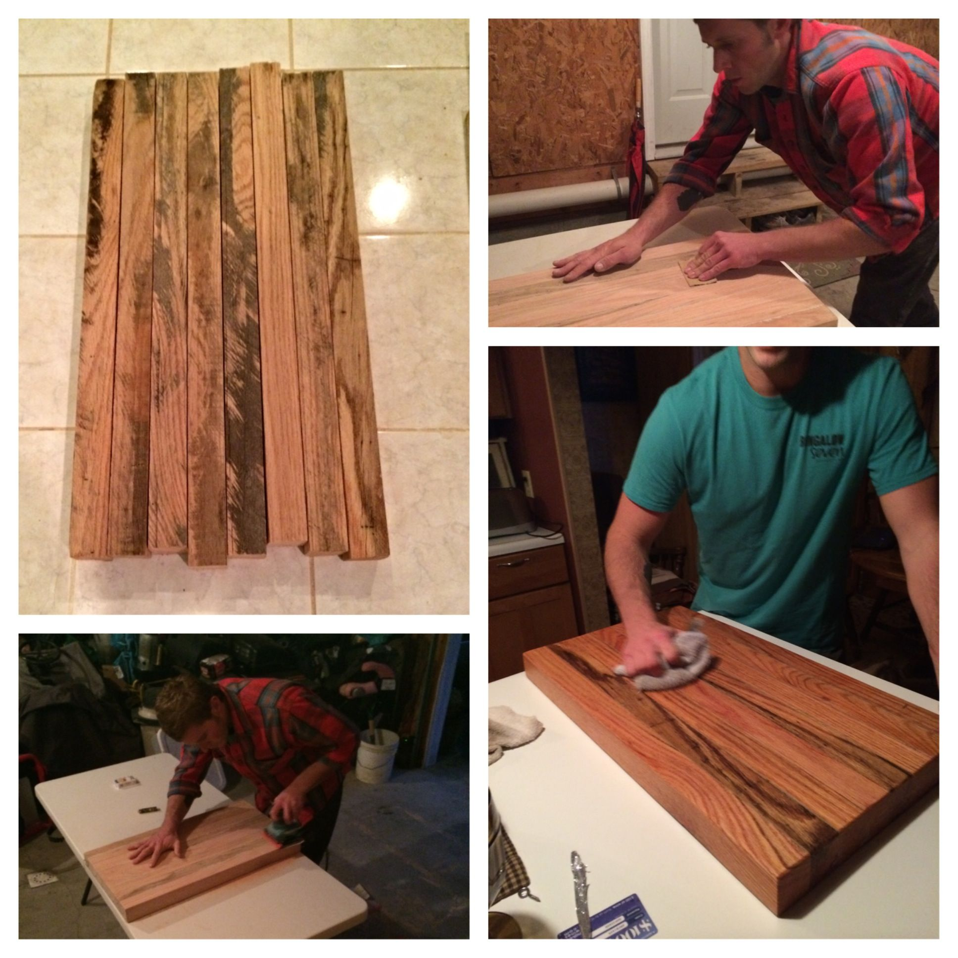 The Perfect Wedding Gift Billy Made This Butchers Block For His Childhood Best Friends