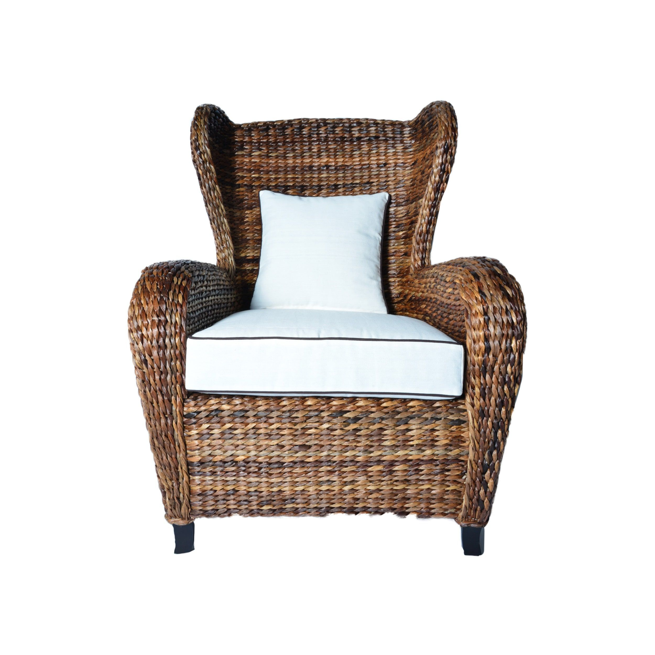 Rattan Lounge Chair Philippines Somette Handmade Boracay Brown Slope Arm Wingback Chair