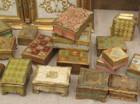 Beautiful Italian florentine keepsake boxes