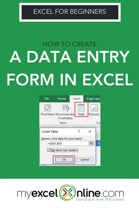 Create a Data Entry Form in Excel | Excel | Microsoft excel