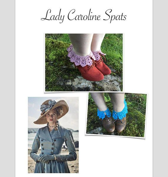PDF crochet pattern - crochet anklewarmers patterns - crochet spats ...