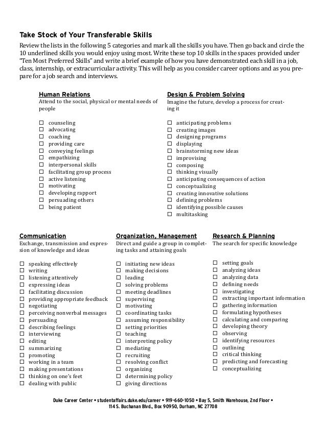 transferable skills list resume quotes sample example Home - skill list for resume