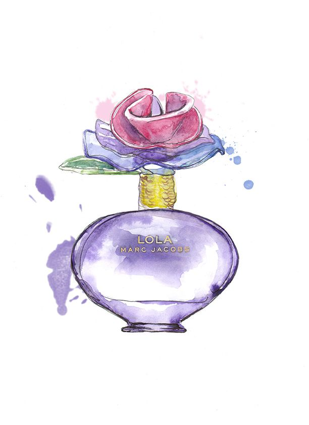 2ecca336b1092 Lola Marc Jacobs perfume illustration | sketch reference in 2019 ...