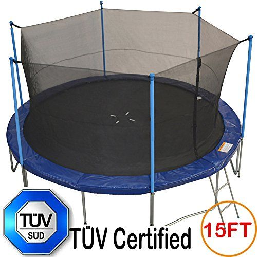 Tuv Approved Zupapa 15ft 14ft 12ft Trampoline With Ladder Pole And Enclosure Net Safety Pad Jumping Trampoline Best Trampoline 12ft Trampoline
