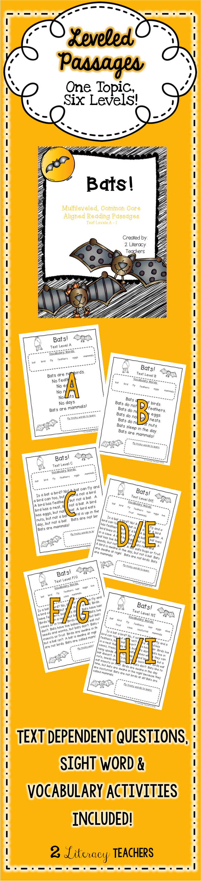 worksheet Leveled Reading Passages bats ccss aligned leveled reading passages and activities included in this set are 6 on the same topic at different text levels a i allows all students to aligned