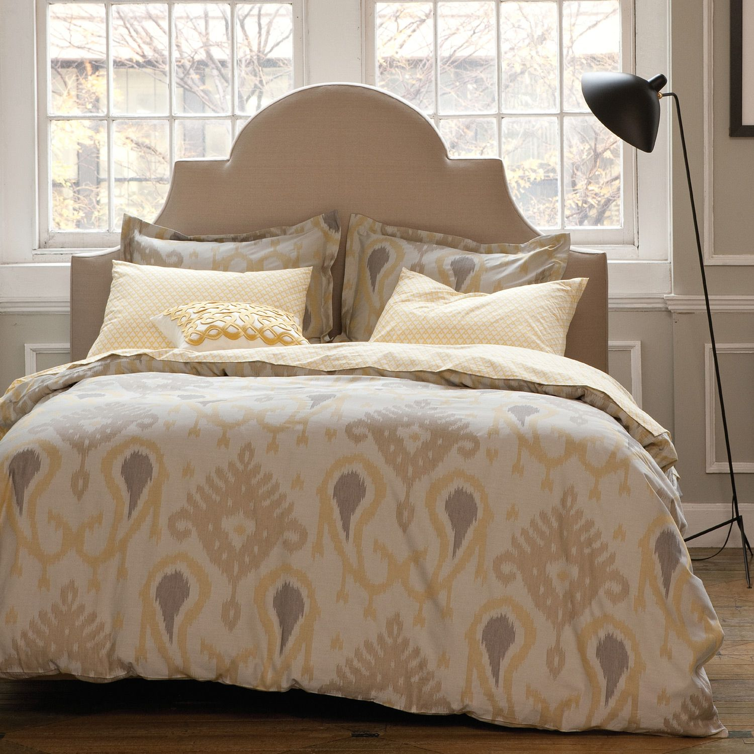 thanks for the pin paige yellow  beige ikat bedding by  - yellow  beige ikat bedding by dwellstudio