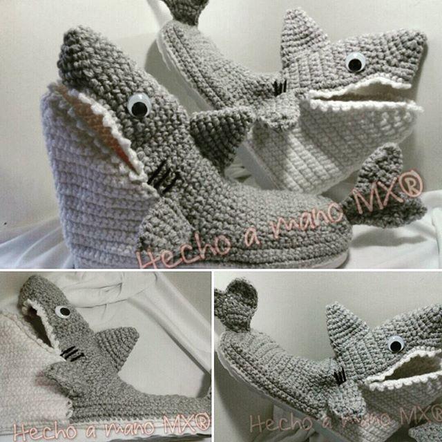 Pantuflas con suela sintética de tiburón para adulto #descanso ...