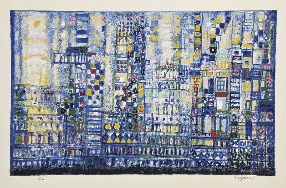 "MANUEL CARGALEIRO - ""sem título"" - serigrafia sobre papel"